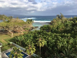 Honu Penthouse 2brm Spectacular Views. Swim with Sea Turtles