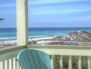 Daniel Dunes-Wide Gulf Views;Private Pool;Steps to Beach;Kayak/SUP/EXTRAS