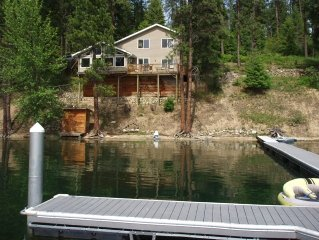 Just Listed! Hayden Lake Waterfront Home W/Boat Dock!