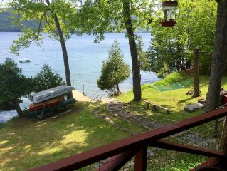 4 Br Lake George Waterfront Home W/ Dock, Rocking Porch, & Spectacular View