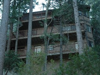Spacious Mountain Home with View of Lake Gregory.