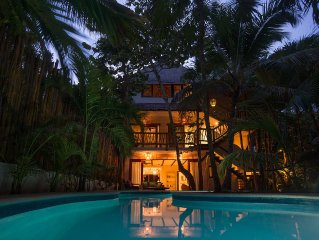 Casa Mandala -  Stylish Beach Home with a Private Pool and A/C.