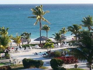 Coral Beach Bahamas Condo, Best Location, Ocean-view Patio
