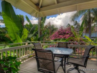 Garden View 2-bd 2-ba Cottage w/ Resort Pool for Two-Four - AC in Both Bedrooms