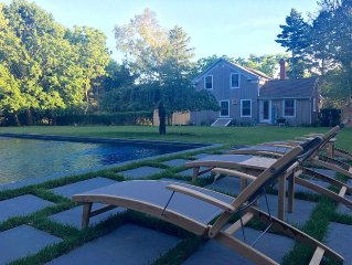 Beautifully Renovated Farmhouse with Gunite Saltwater Pool, 1/2 Mile to Beach