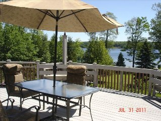 Private, Secluded House 300ft. of Sandy Lakefront on 1.5 Acres in rural Hancock.
