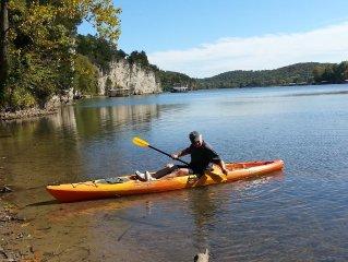 Located Inside a Missouri Vineyard, Pet-Friendly & Free Kayaking