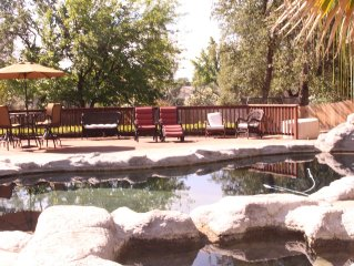 Beautifully Decorated Four Bedroom Home with Pool and Fire-pit.
