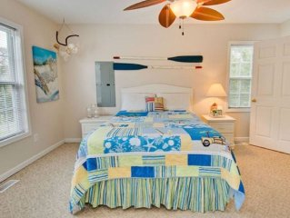Beautiful Beach Cottage Sound Side, walking distance to the Beach.