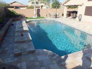 Beautiful Home In San Tan Valley HEATED Pool & Fully Tiled Backyard