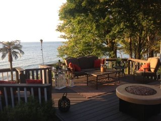 Experience the Magic of Lake Erie in this Lakefront Family Friendly Home