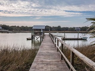 Goat Island Getaway - Private Dock On The ICW! ***Accessible by Boat Only***