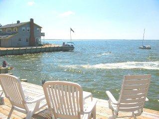 Aug. 26 week $4500/ BAYFRONT / HOT TUB! /Surf City /AMAZING WATERFRONT SUNSETS!!