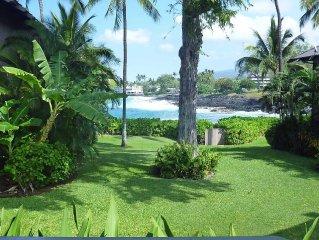 Oceanfront Home - Kona Onenalo Near White Sands Beach