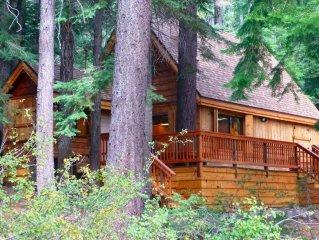 West Shore Lake Tahoe: Charming, Cozy Cabin. Family & Pet Friendly. Hot Tub.WiFi
