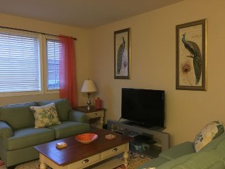 Beautiful 3 Bedroom Condo 1/2 Block To Beach With Balcony, Ocean Views & Pool!
