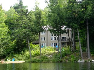 Waterfront 4 BR, Private Beach, ac, Foliage, Near White Mountain Ski Resorts