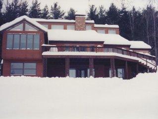 Jay Peak Area 5BR Luxury Family Home Located On Lake Memphremagog