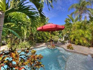 Luxury 2 bed, 2 En Suite Baths, Private Htd Pool, 0 Blocks to Beach - Just Steps
