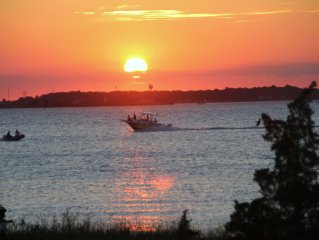 Family friendly home.  Watch beautiful sunsets, sailboat races, enjoy the peace.