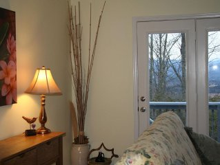 Enjoy Panoramic Mountain Views, located between Hendersonville and Brevard