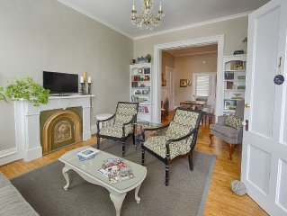 hotel style suites in Geneva's historic district; close to lake+H~W~S downtown