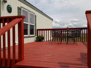 Spacious front deck to enjoy the views and relax!
