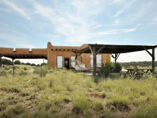 Adobe casita on 13 acres of high desert