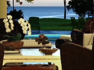 Oceanfront 6 BR Luxury Villa on Golf Course and Next to Beach