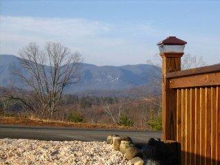 New 'Mountain View' Log Home at Lake Lure