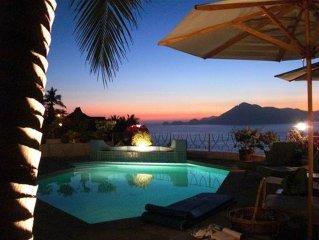 Manzanillo, La Punta Villa, Ocean Views & Sunset, fully Staffed from $500.