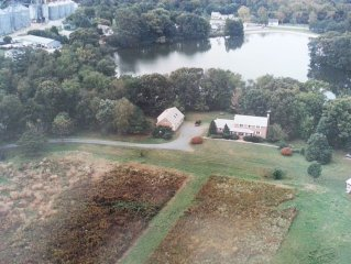 Private Lakefront Home on 17 acres in historic town, w/ a Canoe & Organic Garden