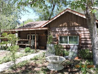 Authentic Log Cabin-Just Listed-1.25 Acres, Seasonal Creek and Minutes to Town