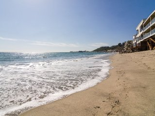 Stunning and  Peaceful Malibu Beachfront with Full Views and Beach Access