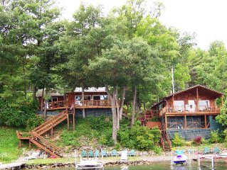 Two Side by Side Lakeside Cottages on Keuka Lake-Sleeps 12-14