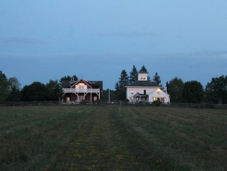 Picturesque Beautiful Country House In Trumansburg New York.