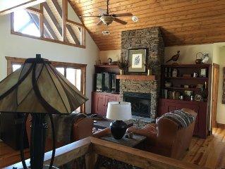 Mountain luxury in the treetops.  3 Bedroom, 2-1/2 Bathrooms
