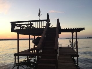 Waterfront Cottage: Calm, Open Water Views (roaring fire & canoe)