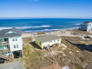Pet Friendly, Cozy Beach Cottage Oceanfront