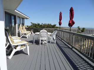 OCEANFRONT☆One level home w/great views!Dune deck, all sheets & towels included