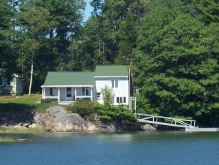 Oceanfront Cottage with Panoramic Views & Its Own Tidal Dock on Casco Bay
