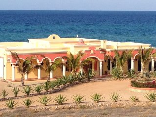 Beachfront Authentic Hacienda On The Sea Of Cortez With Pool