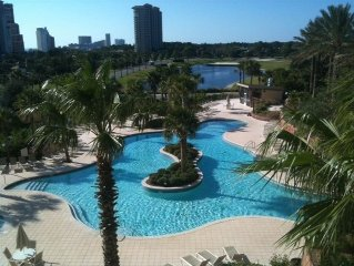 Sunset Balcony overlooking Tropical Pool! Great 4th Flr Location. VRBO Verified!