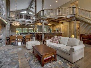 Rustic Luxury: Stunning 5BR Custom Log Themed Lodge on Woodlands G.C., 12x SHARC
