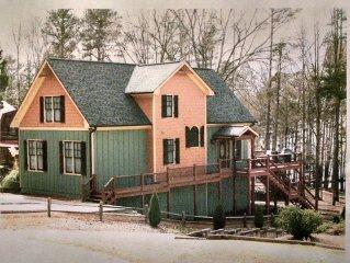Beautiful Like New Lakefront Home w/Dock & Outdoor Fireplace - Sleeps 12+