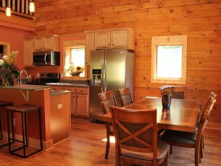 True Log Cabin Living At Bristol Mountain - Cabin Couture