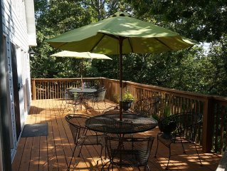Lake Front on Beaver Lake!  Large 5 Bdrm, 3 Bath Home,  Deck & Screened Porch