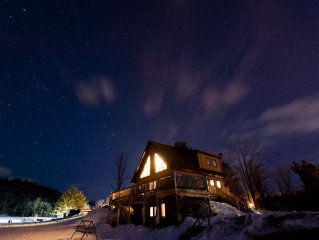 A traditional Quebec chalet nestled in the Gatineau Hills 30 minutes from Ottawa