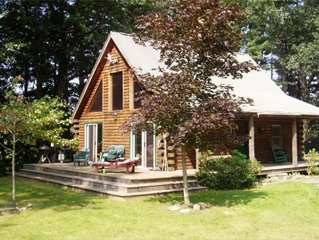 Waterfront Log Cabin on the Williams River in Chester, ~VT~