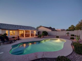 CAD$. Relax by your private pool after a day of golfing or shopping.